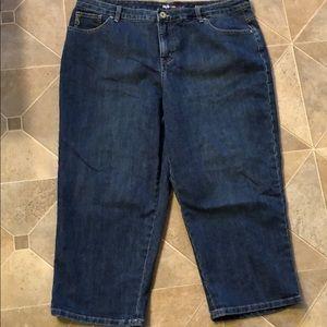 Style & co denim capri jeans size 18 dark wash